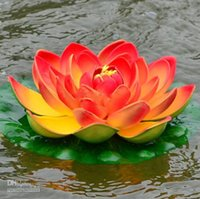 Wholesale 29CM Simulation lotus Flower Artificial Silk Lotus floating water Flower Home garden Decor Pink red white green orange purple color LLFA