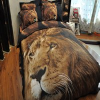 Wholesale Amadam Polyester D Animal lion Printing Bedding Set Duvet Cover Set Bed sheet Pillowcases Bedlinen Bedclothes