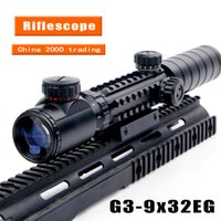 air rifles scope - High Quality x32EG Riflescope Red Green Illuminated Sniper Rangefinder Reticle Shotgun Air Hunting Rifle Scope with LensCover