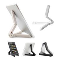 Wholesale Universal Portable Adjustable Fold up Stand Holder for quot quot quot quot quot tablet PC iPad Mini Kindle Fire With Retailpackage