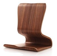 Wholesale New Original SAMDI Universal Walnut Real Wooden Tablet PC Holder Stand for iPad Air for Galaxy Tabs