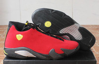 basketball shoes wide sizes - Retro XIV red black men Basketball Shoes fashion S Sports Shoes With Shoes Box size