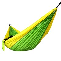 Wholesale USA Outdoor or Indoor Parachute Cloth Sleeping Hammock Camping Hammock Nylon Parachute Fabric Double Hammock cm Two