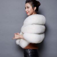 Wholesale High grade dress shawel euramerican fashion fur coat female spell leather artificial fox fur the bride imitation fur shawels