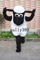 Wholesale 2017 new Shaun mascot high quality cartoon clothing Shaun The Sheep adult size fancy dress party carnival parade Factory direc