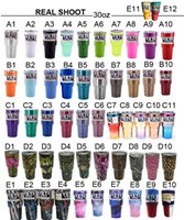 Wholesale 20 or oz yeti Cup Lids Colored Yeti Rambler Tumbler Cup Two Tone Blueline Punisher Skull Stainless Steel Travel Mugs Sold by Charlieshan88