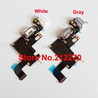 Wholesale OEM New Charger Charging Port Dock Mic Headphone Jack Flex Cable For iPhone quot White Gray
