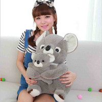 baby koala bear - Free Shpping Hot Sale Sitting Koala Teddy Bear Plush Stuffed Animal Baby Toys Doll Soft Gray Cute