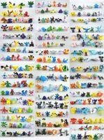 Acheter Noël figurines gros-2017 Cadeaux de Noël Brand New Figurines Pikachu mignons Mini Figurine d'action de monstre lot de jouets 2-3cm 24 pcs dans Random best wholesale pokeba