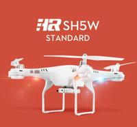Original TOP Vends SH5W 2.4GHz 6Axis WiFi FPV RC Quadcopter Drone w / 2.0MP HD caméra hélicoptères RTF Mini Toy Haute Qualité
