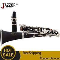 Wholesale New professional JAZZOR JZCL E100 Clarinet Key Bb Flat Soprano Nickel Plated Exquisite with Clarinet Reeds Case Gloves