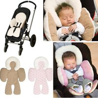 baby car seat double - Baby stroller protective pad car seat cushion head body protective pad double sided