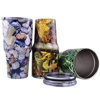 beer camouflage - 2016 Yeti oz Rambler Tumbler Bilayer Camouflage Stainless Steel Insulation Cup OZ Cups Cars Beer Mug Large Capacity Mug DHL OTH242