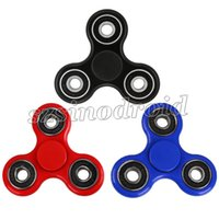 Wholesale EDC Hand Spinner Fidget Spinner Toy Good Choice For decompression anxiety Finger Toys Black Tri Bar Spinning Top Killing Time Retail package