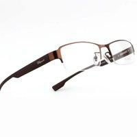 Wholesale Metal Vintage Semi Rim Spring Flex Hinge Monel TR90 Prescription Eyeglass For Women Optical Mens Eye Glasses Frame Oculos de grau Femininos