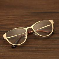 Los marcos de cristal Baratos-Marcos de gafas Hombres Retro Moda Mujer Plana Gafas Espejo Marco Cuadrado Hollow Temples Gafas Marco Marca Diseñador 8059