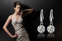 Wholesale Top Selling Luxury Earring Sterling silver with Inlay Zircon Fashion Ladies Wedding Earring