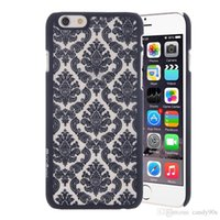 baroque iphone case - Baroque Retro Court Lace Pattern Texture Hard Plastic Clear Case for iPhone S Plus SE S Samsung S7 S6 Free Ship MOQ
