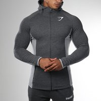 Wholesale High Quality Autumn Men Zipper Hoodies Long Sleeve Bodybulding Shark Hoodies Sweatshirts Gyms Muscle Fit Clothes
