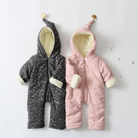 Wholesale Winter Baby Rompers for Boy Girl polar fleece Cotton Baby Crawling Clothes Children Climb Clothes Months