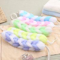 bath bar soap - Bathroom Shower Pouf Bathing Sponges Bubble Exfoliate Soap Foaming Net Meshy Bar Body Ball Bath Accessorie