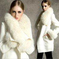 Wholesale Hot New Winter Women s Fur Collar Coats Winter With Liner Long Coat Jackets Outerwear Woman Clothes Plus Size