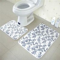 bathroom textiles - Soft Coral Pieces x77cm x50cm Bath Pedestal Mat Toilet Non Slip Floor Mats Rugs