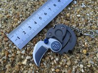Wholesale New Coin Necklace D2 Steel Blade Titanium Coated EDC Pocket folding knife knives tools