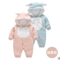 baby animal onesie - Totoro Baby Romper New Winter Cartoon Plus Thick Cotton Boys Girls Onesie Cute Long Sleeve Fashion Infant Jumpsuit Babies Clothes