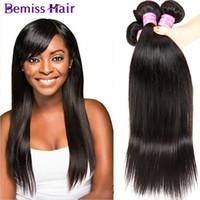 al por mayor salud natural-El pelo humano malasio aglutina el pelo brasileño de la Virgen 4Bundles recto Tratamiento indio de alta calidad de la armadura superior del pelo Salud y belleza