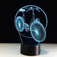 No bicycle christmas cards - 2017 Bicycle D Optical Illusion Lamp Night Light DC V USB Charging AA Battery Dropshipping