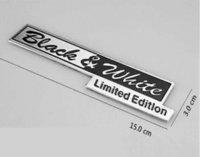 Whole Body aluminum limited edition - 20pcs Aluminum Alloy Range Rover Evoque Freelander BLACK amp White Limited Edition Car Stickers Decorations Car Exterior Accessory