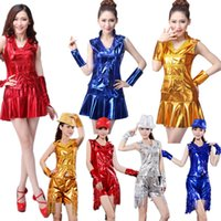 Wholesale 2016 News Hot Sale Women Sequins Jazz Dance Costume Dress Ladies Hip Hop Tassel Dance Wear Sexy Stage Performance Clothing Set S XXXL