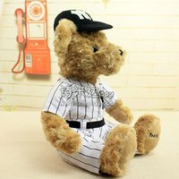 baseball teddy bear - Latest Cute Plush Toy Baseball Bear with Hat quot Brown Lovely Figures High Quality Plush Dolls for Children Best Birthday Gift