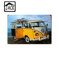 Wholesale Live IN THE PRESENT LAUNCH VW Bus for X30CM Vintage Plate Metal Tin Signs Wall Decor Garage Club Barn Parlor Man Cave Plaques