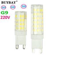 Wholesale Warm white whtie Chandelier mini G9 LED Lamp W W W SMD LED G9 bulb V V LED Bulb Light Replace Halogen lamp light