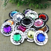Wholesale 200 DHL FEDEX Bag hook Folding Bag Purse Hook NO Mirror Crystal bag Hanger Holder handbag hot sale