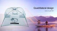 Red de pesca de utilidad telescópica de 4 cebo de pesca Cangrejos red de aparatos al aire libre de fundición pequeña malla de nudo único verde de pesca Net + B