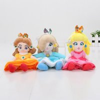 al por mayor princess peach doll stuff toy-20cm suave Super Mario Bros Peluche Princesa Peach Daisy Rosalina Soft Peluche relleno Doll Juguetes Super Mario chrismas regalo