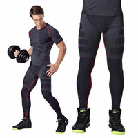Wholesale NEW ARRIVAL Comfortable Men Sport Running Tight Slim Pants Long Leggings Under Trouser Best Seller