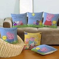 Wholesale Cute Sofa Set - Children's cartoon sell lots of cute piggy paggy flax home office sofa pillow pillows optional set of 5 kinds of pattern