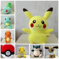 Wholesale Poke Plush Toys Pikachu Jeni Turtle Plush Dolls Poke Bulbasaur Squirtle Charmander Stuffed Dolls Poke Ball Plush Children Christmas Gifts F3