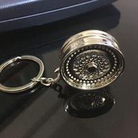 bbs wheels - 2016 Car styling BBS Wheel Rim Turbo Keychain Car Parts Model Silver Color Sleeve Spinning Turbine Turbocharger Keyring KeyChain Ring Keyfob