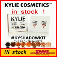 Wholesale Ship in hours hot new kylie Kyshadow pressed powder eye shadow palette the Bronze Palette Kyshadow Kit Kylie Cosmetic colors