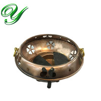 alcohol heater - Mini outdoor picnic alcohol camping stove windproof metal portable chafing heater copper hotpot cooker buffet food warmer holder fondue