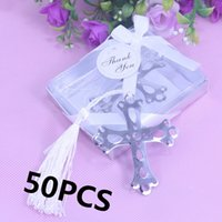 bible favors - Bulk Bible Cross Metal Bookmark For Baptism Baby Shower Souvenirs Favours Birthday Kids Party Wedding Favors and Gifts