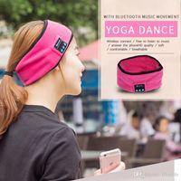 Compra Sombrero de estiramiento-Auriculares sin hilos de la yoga de la venda de la franela de la música Bluetooth3.0 Deportes para mujer para hombre de los deportes de la yoga que se ejecutan el abrigo de la cabeza del estiramiento de la yoga para el sombrero universal de la música