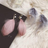 Wholesale Han edition style restoring ancient ways of autumn winters long white mink fur pearl earrings tassel earrings