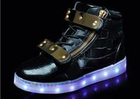 Wholesale 2017 Fashion USB Charging Led Children Shoes Light Up Sneakers Kids Boys Girls Casual Luminous Glowing Shoe
