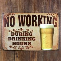 Wholesale About quot drinking and beer quot UA metal painting vintage tin signs home decor plate wall art craft for bar x30cm